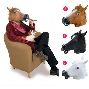 馬 マスク かぶりもの お面 動物 アニマル うま LZ-01