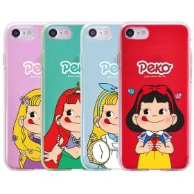 Peko プリンセス ペコちゃん ゼリー ケース ♪Galaxy S8/S8 Plus/S7 Edge/S7/S6/Note8 可愛い ペコちゃん ふじや 柔らかい 半透明
