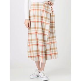 [COTORICA WOMEN]【WOMEN】TRチェックラップスカート