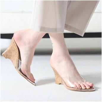 サンダル レディース ウェッジヒール クリアストラップ 2017 春 ファッション 靴 婦人靴