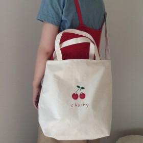Cherry ショルダーLサイズ ロゴトートバッグ