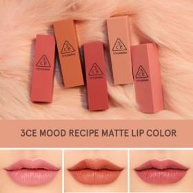3CE ムードレシピ マットリップカラー /MOOD RECIPE MATTE LIP COLOR 全5色