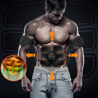 腹筋ベルト 多機能 EMS 腹筋 腕筋 ジェルシート 筋トレ フィットネスマシーン 男女兼用 ダイエット マッサージ痩身 自動的に腹筋 トレーニング