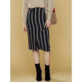 [LAGUNAMOON]Artカッティングストライプスカート