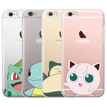 Pokemon ポケモン キュティー クリアー ゼリー ケース ♪iPhone7 / 7 Plus 可愛い 大人気 透明 ピカチュウ ゼニガメ フシギダネ