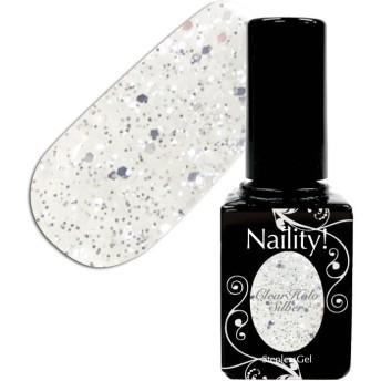 Naility! ステップレスジェル 022 クリアホロシルバー 7g 【YWZS/ソークオフ/カラージェル/ポリッシュ タイプ/uv led 対応/国産/ジェルネイル/ネイル用品】
