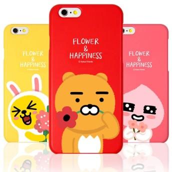 Kakao Friends カカオフレンズ フラワー ハード ケース ♪ iPhone6/6s Plus 可愛い スリム 花 ハード 強い