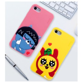Kakao Friedns カカオフレンズ ハート カラー シリコン ケース ♪iPhone 6/6s Plus 柔らかい シリコン ゼリー ライアン アピーチ ネオ