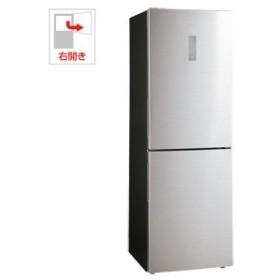 (標準設置 送料無料) ハイアール 340L 2ドア冷蔵庫(シルバー)(右開き) Haier JR-XP1F34A-S 返品種別A