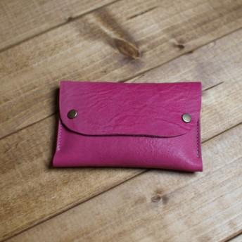 本革製のポケットティッシュケース / bill -rosepink-