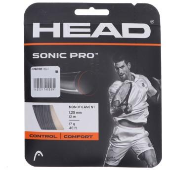 ヘッド HEAD 硬式テニス ストリング ソニック・プロ 125 ブラック 281028