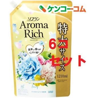 ソフラン アロマリッチ フェアリー ウォータリーフラワーアロマの香り 詰替用特大 ( 1210ml6コセット )/ ソフラン ( 柔軟剤 )