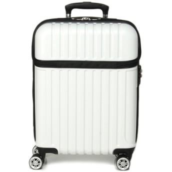 【ACTUS】トップオープンカーボンシェルキャリーS【1-2泊対応】【機内持ち込みサイズ】 ホワイト