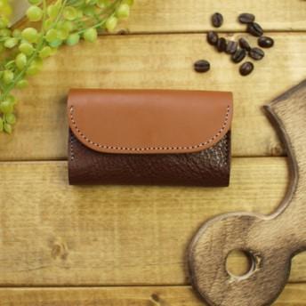 ツートンカラー本革カードケース / dublin -brown-