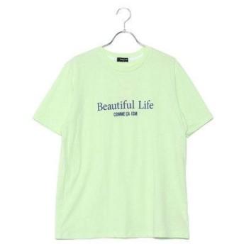 コムサイズム COMME CA ISM ファミリーTシャツ(大人サイズ) (イエローグリーン)