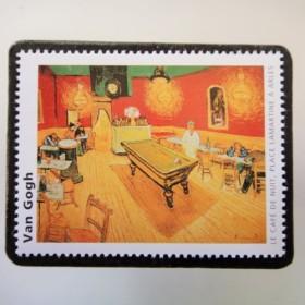 フランス ゴッホ切手ブローチ3362
