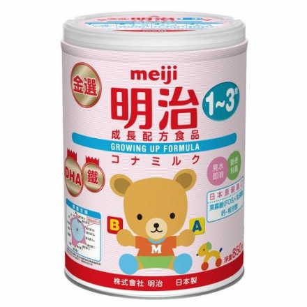 MEIJI 金選明治成長奶粉3號850g(2罐/6罐)