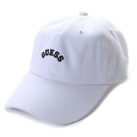 ゲス GUESS Originals ARCH LOGO CANVAS 6PANEL CAP (WHITE)【JAPAN EXCLUSIVE ITEM