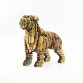 ブレーメン音楽隊 - 組み立てられていない犬のコラージュスタンプDIYギフトボックス