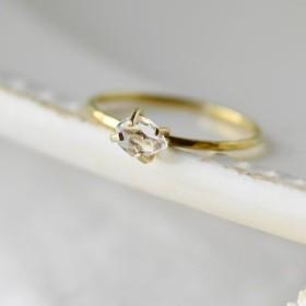 ハーキマーダイヤモンドリング・真鍮