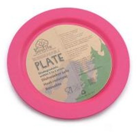 EcoSouLife ラージ ディナー プレート Large Dinner Plate 14714 Pink キャンプ用品 食器(Men's、Lady's)