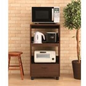 キッチンボード おしゃれ 安い キッチンラック キッチン 収納 キッチンワゴン KBD-500 全2色 幅50 引き出し 炊飯器 台(250223) アイリスオーヤマ (送料無料)