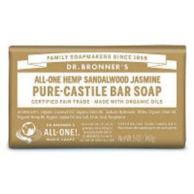マジックソープバー(magic soap)石鹸 サンダルウッド&ジャスミン 140g ドクターブロナー