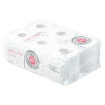 トイレットペーパー 6ロール入 パルプ(PEFC認証紙) ダブル 60m オリジナルトイレットロールスマートエコノミー 1パック(6ロール入) アスクル