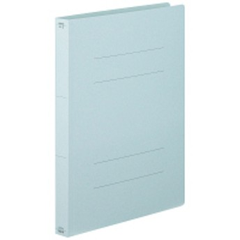 フラットファイル厚とじ A4タテ 10冊 ブルー アスクル
