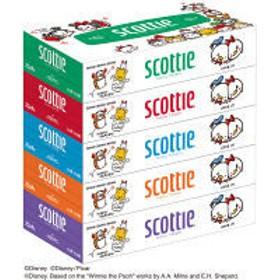 ティッシュペーパー 160組 1パック(5箱入) スコッティティシューツムツム 日本製紙クレシア