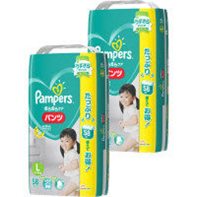 パンパース おむつ パンツ L(9~14kg) 1セット(58枚入×2パック) さらさらケア P&G
