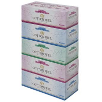 ティッシュペーパー 2枚重ね160組 1パック(5箱入) コットンフィールティシュ 大王製紙