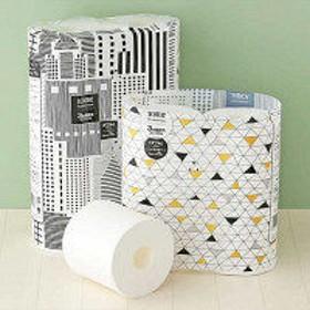 トイレットペーパー 6ロール入 パルプ 再生紙配合 ダブル 75m スコッティ フラワーパック 3倍長持ち 北欧デザイン 1パック(6個入) 日本製紙クレシア