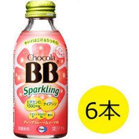チョコラBBスパークリング グレープフルーツ&ピーチ味 140mL 1セット(6本入) エーザイ 栄養ドリンク
