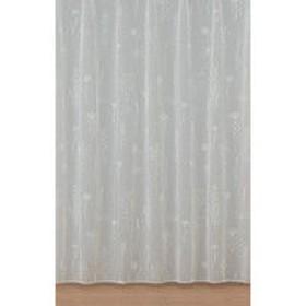 川島織物セルコン 1.5倍ヒダ 2つ山 レースカーテン 裾ウェイトテープ加工 ボタニカ 幅100×丈103cm 1枚(直送品)
