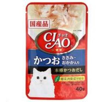いなば CIAO(チャオ)パウチ かつお ささみ・おかか入り 40g キャットフード 国産 3袋