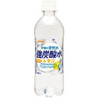 サンガリア 伊賀の天然水 強炭酸水レモン 500ml 1箱(24本入)
