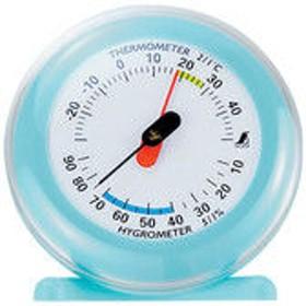 温湿度計 Q-3 丸型 6.5cm ライトブルー 70498 1セット(10個) シンワ測定 (直送品)