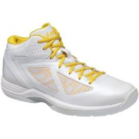 (セール)ASICS(アシックス)バスケットボール シューズ GELSCOOP TBF313.0104 メンズ ホワイト/イエロ-