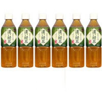 富永貿易 神戸茶房 濃い緑茶 500ml 1セット(6本)