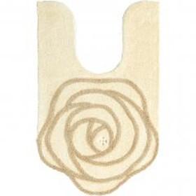 SDS ジュエリーローズ 耳長ロングトイレマット 約95×60cm アイボリー