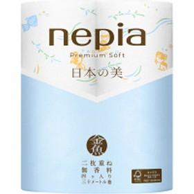 トイレットペーパー 4ロール入 パルプ ダブル 30m ネピアプレミアムロール日本の美 金魚 1パック(4個入)王子ネピア