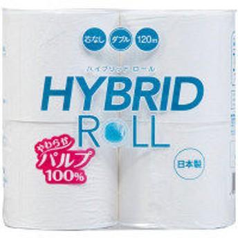 【ワゴンセール】トイレットペーパー 4ロール入 パルプ ダブル 120m ハイブリッドパルプ 1パック(4ロール入) 丸富製紙