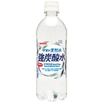 サンガリア 伊賀の天然水 強炭酸水 500ml 1箱(24本入)