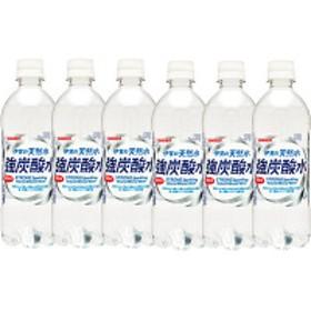 サンガリア 伊賀の天然水 強炭酸水 500ml 1セット(6本)