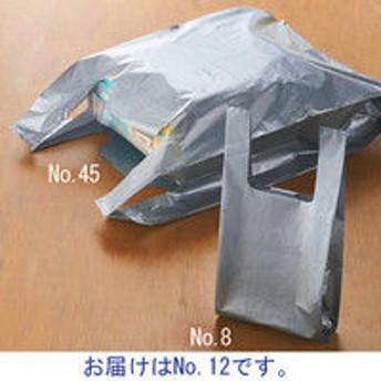 アスクル レジ袋(シルバー) No.12 0.02mm厚 1袋(100枚入)