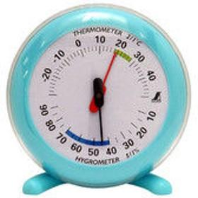温湿度計 Q-2 丸型 10cm ライトブルー 70496 1セット(10個) シンワ測定 (直送品)