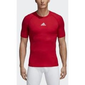adidas(アディダス)サッカー インナーシャツ ALPHASKIN TEAM ショートスリーブシャツ EVN56 CW9519 メンズ パワーレッド