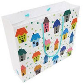 デザイン紙袋L ハウス IE-L 5個 エヒメ紙工 (直送品)