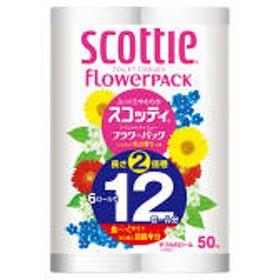 トイレットペーパー 6ロール入 再生紙配合 ダブル 50m 花の香り スコッティフラワーパック2倍巻き 1パック(6ロール入) 日本製紙クレシア
